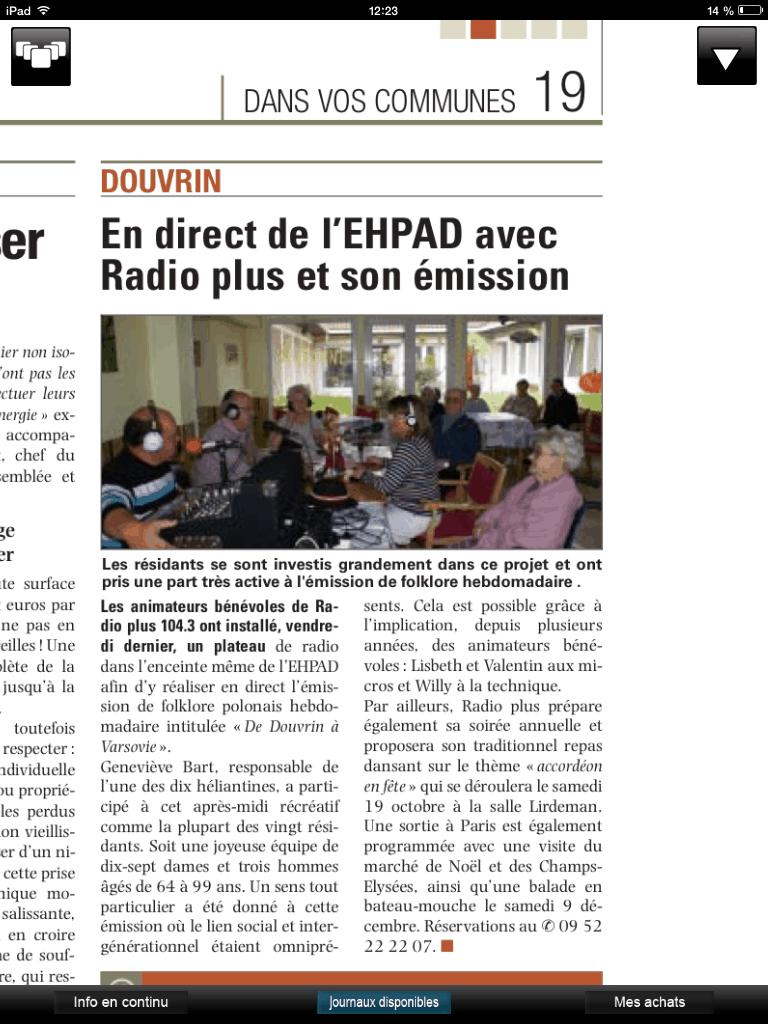 hepad douvrin radio plus septembre 2013 voix du nord